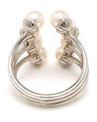 Yvonne Léon - Metallic 18K White Gold Eight Pearl Ring - Lyst