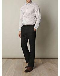 John Varvatos - Black Wool-blend Trousers for Men - Lyst