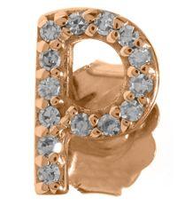 KC Designs Pink Rose Gold Diamond P Single Stud Earring
