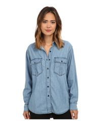 Free People | Blue Xo Denim Button Down | Lyst