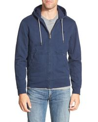 Timberland - Blue 'exeter' Slim Fit Zip Front Hoodie for Men - Lyst