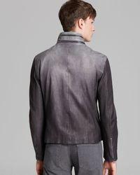 John Varvatos Purple Ombré Leather Jacket for men