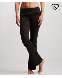 Live Love Dream   Gray Lld Ruffle Bootcut Yoga Pants   Lyst