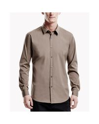 Theory | Brown Zack Ps Shirt In Ostend for Men | Lyst