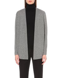 Sandro - Gray Lace-up Wool And Cashmere-blend Cardigan - Lyst
