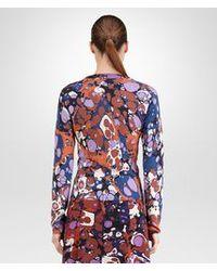Bottega Veneta - Multicolor Printed Cashmere Silk Cardigan - Lyst