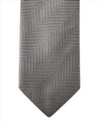 Jaeger Gray Prince Of Wales Modern Tie for men