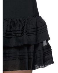 Diane von Furstenberg - Black 'rayan Two' Tulle Trim Ruffle Crepe Dress - Lyst
