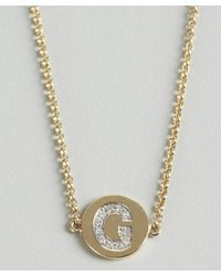 KC Designs - Metallic Gold And Diamond 'g' Initial Pendant Bracelet - Lyst