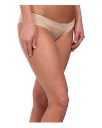 Betsey Johnson - Natural Slinky Knit & Lace Cheeky Bikini J1950 - Lyst