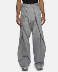 Christopher Shannon Gray Double Width Jeans for men