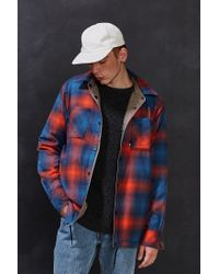 The North Face Blue Fort Point Flannel Shirt Jacket for men