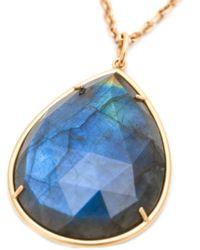 Irene Neuwirth - Blue 18kt Rose Gold Labradorite Necklace - Lyst