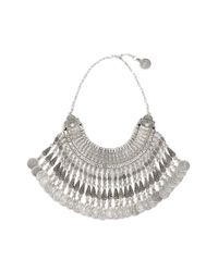 Raga | Metallic Coin Statement Bib Necklace | Lyst