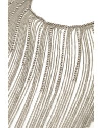 Forever 21 - Metallic Fringed Chain Statement Necklace - Lyst