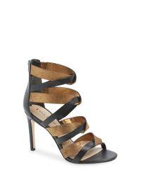 Via Spiga | Black 'Elyse' Sandal | Lyst