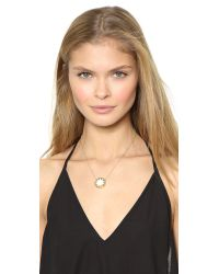House of Harlow 1960 - Metallic Mini Sunburst Pendant Necklace - Lyst