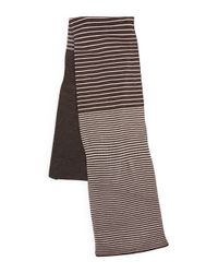 Calvin Klein | Gray Striped Knit Scarf | Lyst