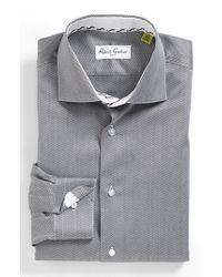 Robert Graham - Gray 'lambert' Regular Fit Herringbone Dress Shirt for Men - Lyst