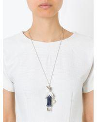 Servane Gaxotte Metallic Rabbit Pendant Necklace