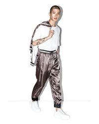 3.1 Phillip Lim Black Exclusive Reversible Cropped Pajama Pant for men