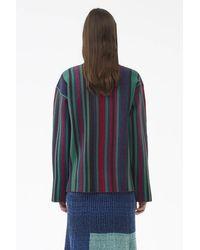 3.1 Phillip Lim - Blue Exclusive: Jacquard-stripe Pullover - Lyst