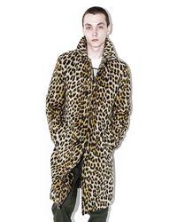3.1 Phillip Lim Natural Balmacaan Leopard-Print Wool-Blend Coat for men
