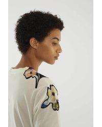 3.1 Phillip Lim White Floral Applique T-shirt