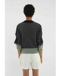 3.1 Phillip Lim Multicolor Ruched-sleeve Sweater-jacket