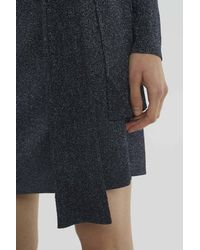 3.1 Phillip Lim Blue Wrap-waist Ribbed Dress
