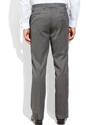 Tommy Hilfiger - Gray Grey Solid Flat Front Pants for Men - Lyst