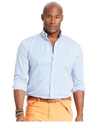 Polo Ralph Lauren - Blue Big & Tall Bengal-striped Poplin Shirt for Men - Lyst