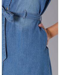 Linea Weekend Blue Denim Shirt Dress