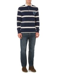 Howick - Blue Tilston Stripe Long Sleeve Rugby Top for Men - Lyst