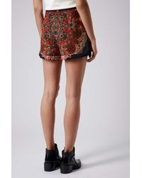 TOPSHOP - Multicolor Folk Pattern Placement Shorts - Lyst