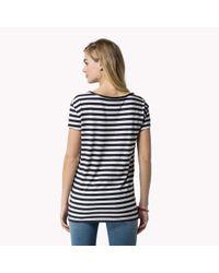 Tommy Hilfiger - Blue Cotton Blend T-shirt - Lyst