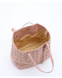 Jimmy Choo - Rose Pink Leather Star Studded Small 'sasha' Tote - Lyst