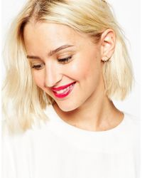ASOS | Metallic Limited Edition Open Triangle Earrings | Lyst