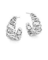 John Hardy - Metallic Palu Macan Lava Medium Hoop Earrings - Lyst