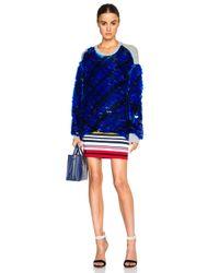 Preen By Thornton Bregazzi Blue Hoxton Sweatshirt
