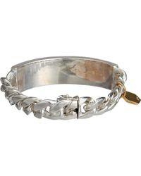 Ann Dexter-Jones - Metallic Id Bracelet - Lyst
