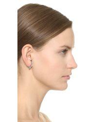 Vita Fede - Metallic Comma Crystal Earring - Lyst