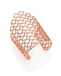 Alexis Bittar - Metallic Miss Havisham Liquid Asymmetrical Barbed Wire Cuff Bracelet/Rose Goldtone - Lyst