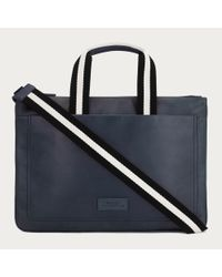 Bally Tigan Men ́s Leather Business Bag In New Blue for men