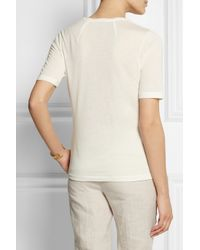 Totême  Natural Stockholm Micro Modal And Cashmere-Blend T-Shirt
