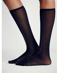 Free People - Black Stance Womens Eclipse Opaque Crew Sock - Lyst