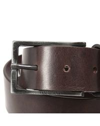 Armani Jeans | Brown Belt Classic Buckle Leather for Men | Lyst