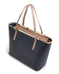 Ted Baker - Blue Colour Block Leather Shopper Bag - Lyst