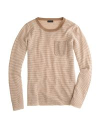 J.Crew - White Collection Cashmere Long-sleeve T-shirt In Thin Stripe - Lyst