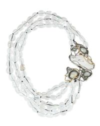 Alexis Bittar - Yellow Jardin Mystere Clear Crystal Doublet Draped Necklace - Lyst